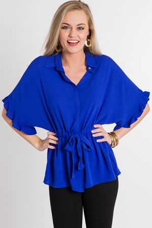 In A Cinch Blouse, Royal