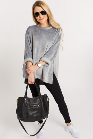 Crazy Soft Pullover, Grey