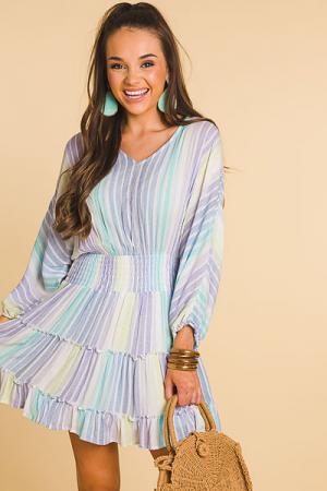 Seaside Cinched Waist Dress