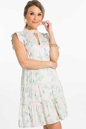 Pastel Print Dress