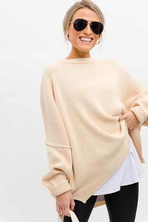 DeeDee Dolman Sweater, Cream