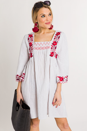 Red Roses Dress, Off White