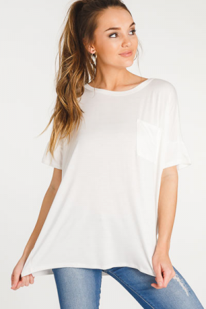 Bamboo Pocket T-Shirt, Ivory