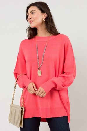 Astrid Ribbed Sweater, Pink