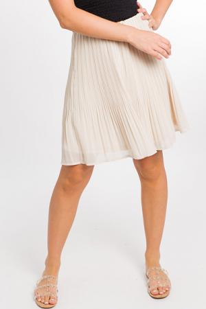 Pleats Me Skirt, Cream