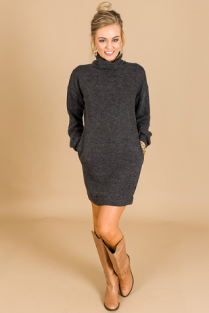 All That Cowl Neck Dress, Charc