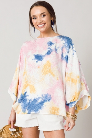 Loose Fit Tie Dye Top