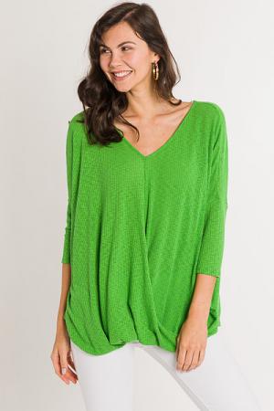 Get the Twist Tunic, Green