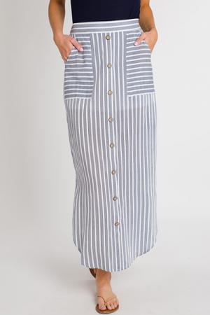 Cassie Button Maxi Skirt