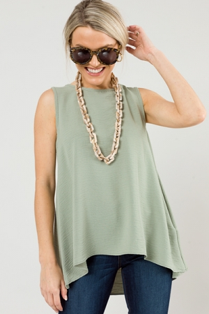 The Essential Tank Top, Sage