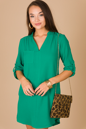 Instant Classic Dress, Green