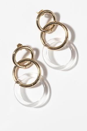 Clear Acrylic Rings Earring