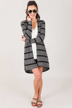 Call Me Cozy Cardigan, Charcoal