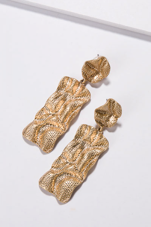Crinkled Post Ear, Gold