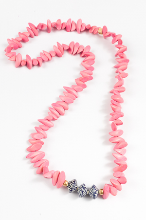 Zara Necklace, Pink