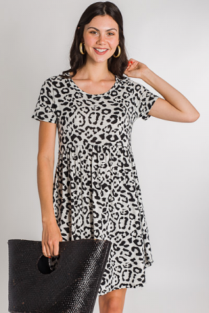 Knit Babydoll Dress, Panther