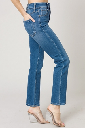 Double Button Straight Jean