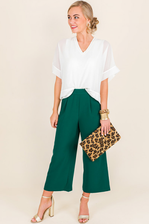 Emerald Ankle Slacks