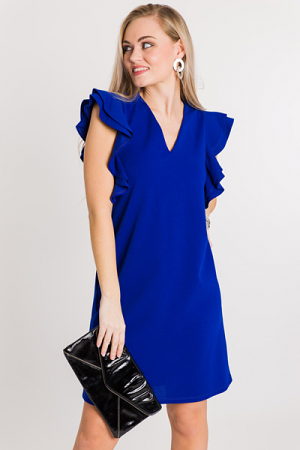 Class Act Ruffle Dress, Royal
