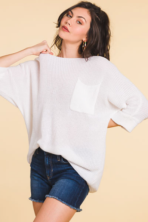 Sweater Sister Top, Off White