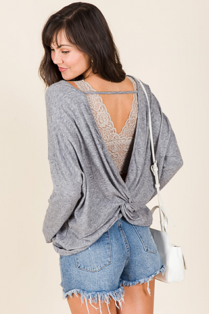 Open Back Knit Top