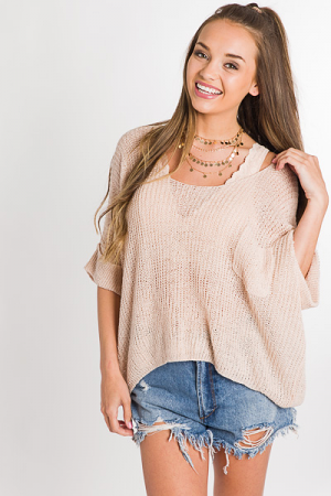 Chrissie Summer Sweater, Blush