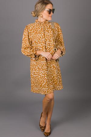 Speckled Dress, Camel