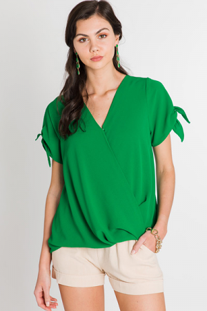 Kelly Surplice Top