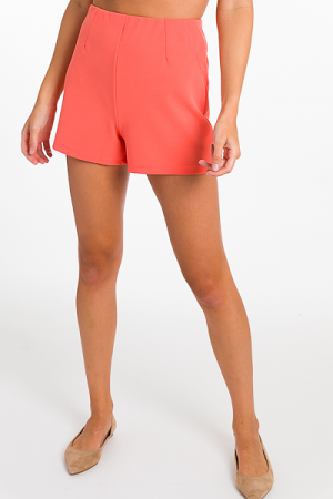 Smooth Waist Shorts, Coral