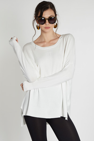 Open Heart Sweater, Off White