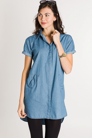 Denim Days Button Dress