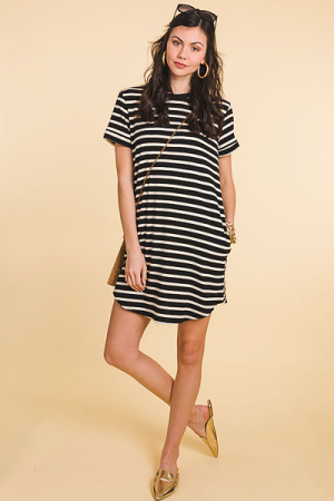 Knit Striped Dress