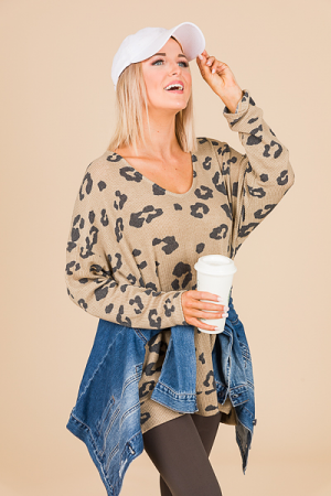 Animal Spots Thermal, Taupe