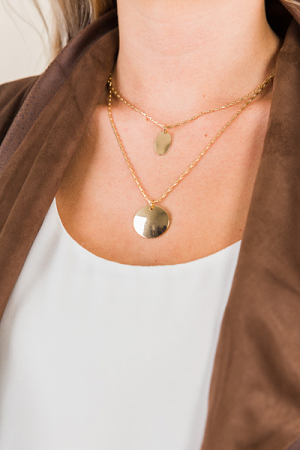 Duet Drop Necklace, Gold