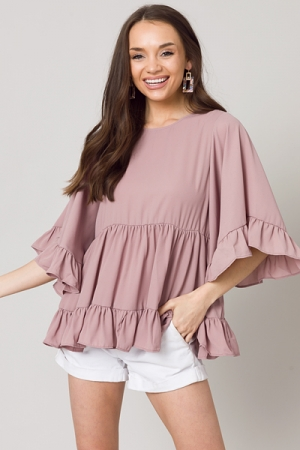 Floating Blouse, Wood Rose