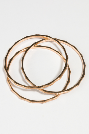 3 Bamboo Bangle Set