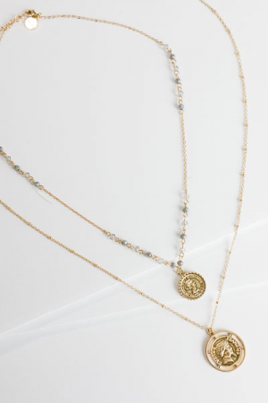 Coin Layering Necklace, Coin