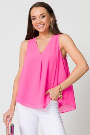 Double Layer Tank, Pink