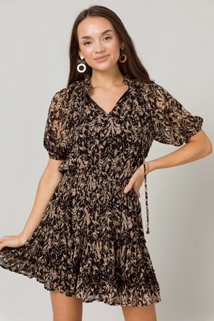 Neutral Design Dress, Black