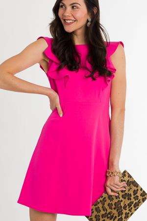 Princess Seam Dress, Lipstick
