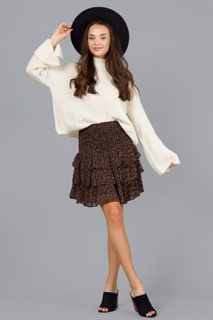 Cheetah Love Smock Skirt, Black