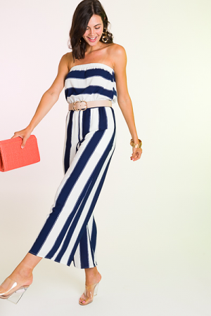 Sailor Stripes Jumpsuit, Navy