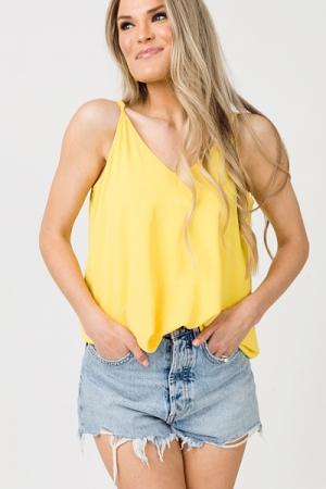 Olivia Swing Tank, Lemon
