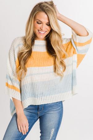 Mango Stripe Sweater