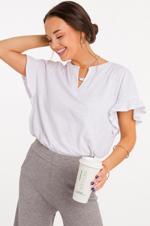 Candace Cotton Top, White