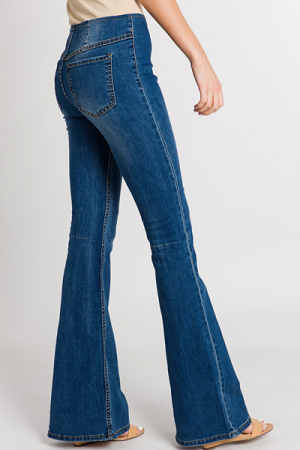 Pull on Flares, Dark Denim