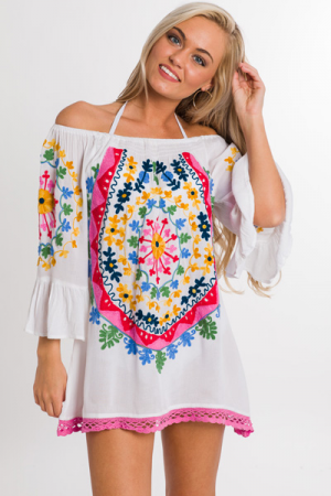 Embroidered Medallion Frock