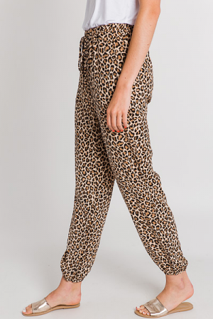 Woven Joggers, Classic Leopard