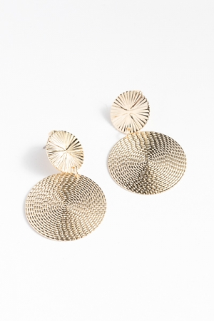 Gold Dipped Texture Earrings