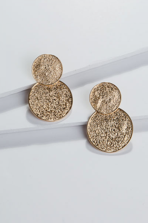 Duo Coin Ear, Gold